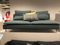 Blue sofa in good condition, you can wash and change the cover.IkEA furniture 3731 km