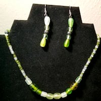 Green Glass bead necklace  Fort Worth, 76182