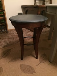 round brown wooden side table Camas