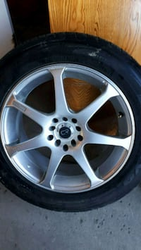 Core racing 17 inches wheel with tire