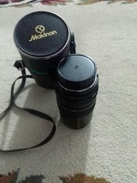 black Makinon camera lens with case Toronto, M3J 2T1