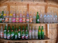 assorted pop bottle collection