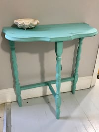 green and white wooden side table Rockville, 20852