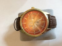 Men's Merona watch with bronze face and brown leather band York, 29745