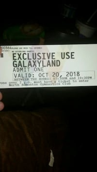 2 tickets to galaxyland both for $20 Edmonton, T5G 1M3