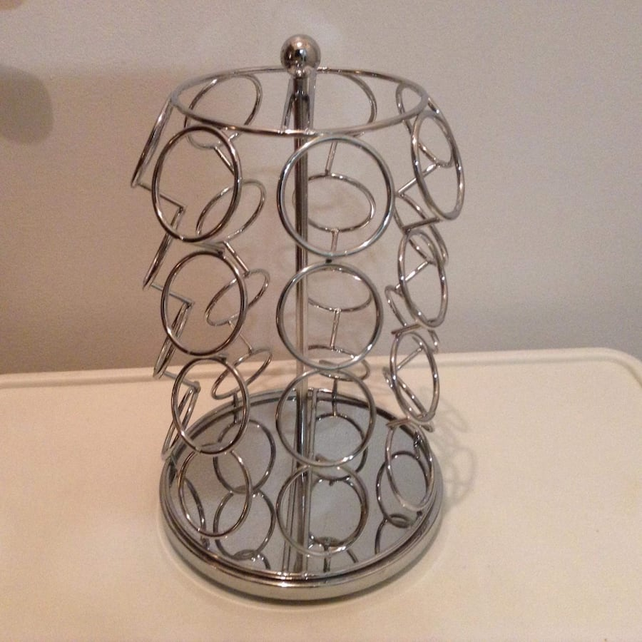 Metal puck holder.