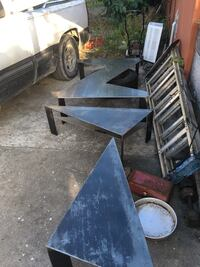 black and brown wooden table Miami Gardens, 33054