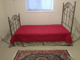 Twin Bed & End Table