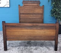 ***full antique wood bed (free delivery)