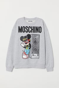 Moschino for H&M, medium, new with tag sweatshirt grey 3751 km