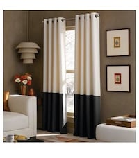 Color-blocked curtain panels  Plano, 75023