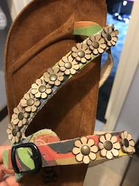 brown and black floral leather belt Houston, 77041