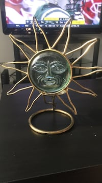 Sun candle holder