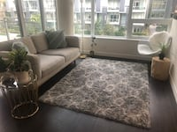 White and grey area rug  Vancouver, V6A 2W5