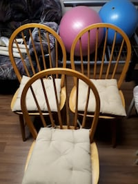 3 brown wooden ikea chairs Ottawa, K2G 2S6