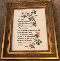 Framed Lord's Prayer with flowers Memphis, 38018
