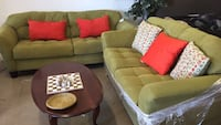 green and white sectional couch San Antonio, 78237