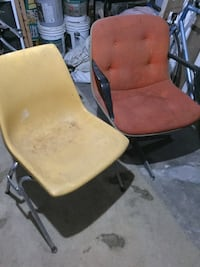 Yellow and silver plastic chair