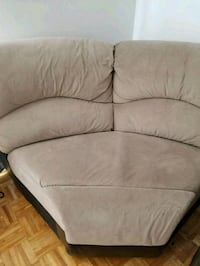 brown leather 2-seat sofa Montreal East, H1E