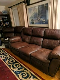 Real Leather Recliner Sectional  McLean