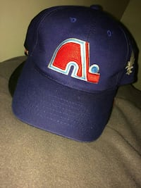 blue and red Fleur De Lis baseball cap