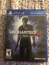 Uncharted 4 PS4 game case Beltsville, 20705