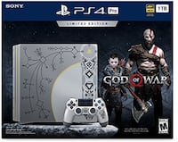 Playstation 4 pro limited edition god of war console Milton, L0P