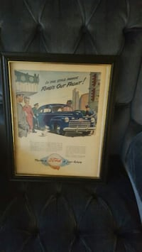 Old. 1940. Add in frame  of car  Manassas, 20110