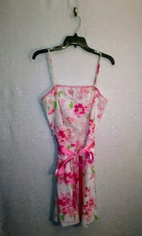 PINK FLORAL PRINT DRESS Wichita