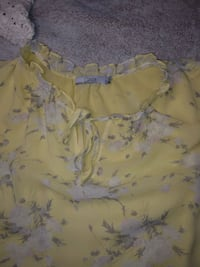 Pale Yellow Short Sleeve Blouse