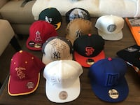 six assorted color fitted caps Los Angeles, 91342