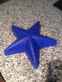 blue plastic star.