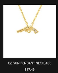 New Gold Tone Pendent Necklace Chesapeake, 23320