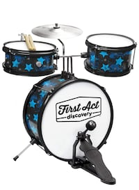 Two Black and Blue Electric Drum Set CROFTON
