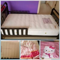 Toddler bed/mattress with bedding set Livonia, 48152