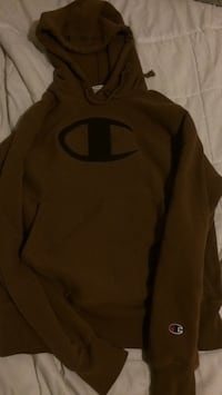 Champion Reverse Weave Hoodie Sweater Pull over Brown Size Men's Small 546 km