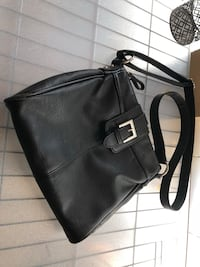 black leather 2-way handbag 1214 mi