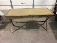 """Wooden table, World Market brand, 60"""" x 24"""" x 31"""" tall Mead, 80504"""
