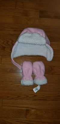 Toddler Girls' Fleece Trapper Hat with mitts size 0-12 Months    Calgary, T3L 3C5
