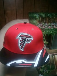 $20 leather brim Falcons Snapback
