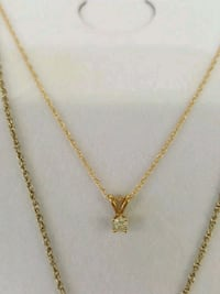 14kt gold chain necklace with diamond pendant Mayfield Heights, 44124