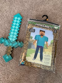 Minecraft Steve costume and sword Tampa, 33621