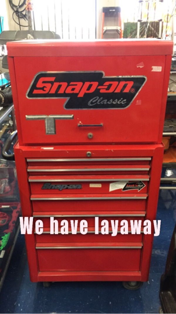 used snap-on stand up tool box for sale in frisco - letgo