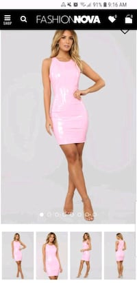 Pink patent dress size sm and med Toronto, M5C 2L7
