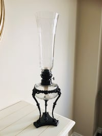 Tall Bombay Oil Lamp with Crystal & Gargoyle cast vintage look Scugog, L9L