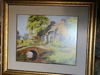 Brown wooden framed painting of house.  Make offer Hamilton, L0R 1P0