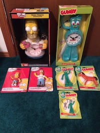 Homer Simpson / Gumby clock Sherwood Park