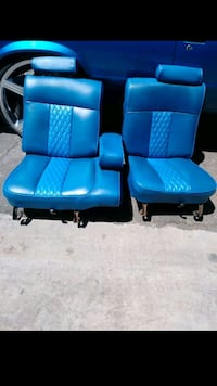 two blue leather padded armchairs Las Vegas, 89110