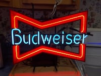 Vintage Bar Budweiser Neon Light Stafford Courthouse, 22554