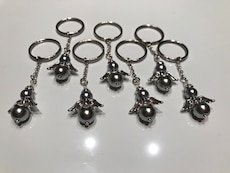 Silver guardian angel keychains